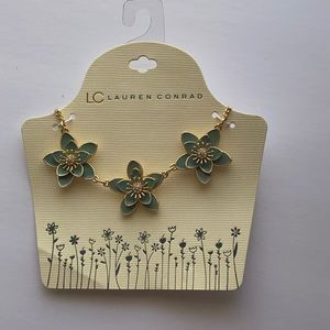 LC | Turquoise Flower Collar Necklace